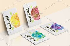Watercolor Creative Business Card Templates - Elegant card- Beautiful flowers painted in watercolor- 5 color options to choose from!- Help fi by land art Watercolor Business Cards, Watercolor And Ink, Jessica Jones, Business Card Logo, Business Card Design, Creative Business, Business Illustration, Pencil Illustration, Creative Sketches