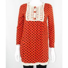 Polka Dot Top With Crochet Patchwork http://www.trendzystreet.com/clothing/tops-blouses/york-patchwork-top-tzs5887