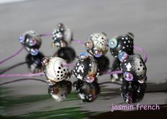jasmin french ' BUDS ' lampwork glass art beads