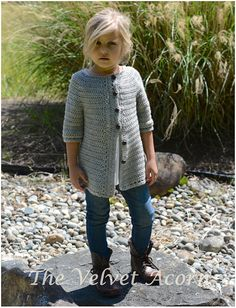 Listing for CROCHET PATTERN ONLY of The Cairbre Cardigan. This sweater is handcrafted and designed with comfort and warmth in mind…Perfect accessory for all seasons. All patterns are american english written instructions in standard US standard terms. **Sizes included 2/3, 4/5, 6/7,