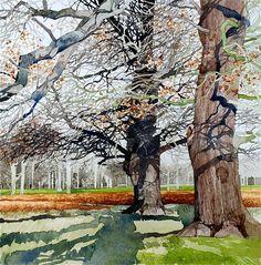 Ian Sidaway   WATERCOLOR #tree #art