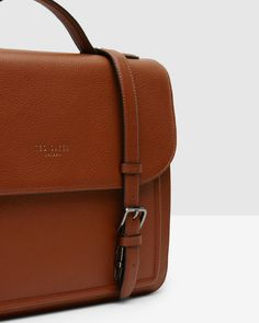 Leather satchel - Tan | Bags | Ted Baker