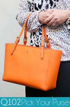 Tory Burch - Small York Leather Tote. Go to wkrq.com to find out how to play Q102's Pick Your Purse!