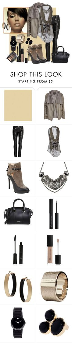 """""""Untitled #201"""" by fasttrack2fashion ❤ liked on Polyvore featuring River Island, Yves Saint Laurent, ISABEL BENENATO, Giorgio Armani, Alexis Bittar, Burberry, Dorothy Perkins and Movado"""