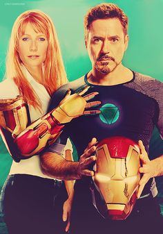 Pepper Potts and Tony Stark (Gwyneth Paltrow and Robert Downey Jr. for Entertainment Weekly, May 2013)
