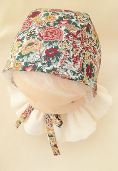 Liberty Baby Winter Bonnet Elysian autumn lined with by MonPilou