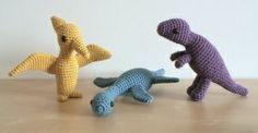 Amigurumi dinosaur patterns.