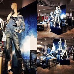 """HUDSON'S BAY COMPANY, Rotterdam, The Netherlands, """"Denim is Love that Never Fades"""", photo by Jose Tuppert, pinned by Ton van der Veer"""