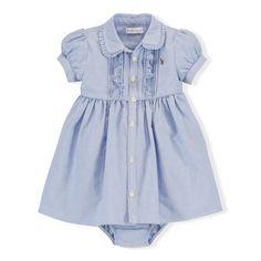 Cotton Oxford Dress & Bloomer - Dresses & Skirts  BABY GIRL (0-24 months) - RalphLauren.com