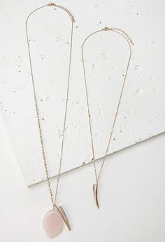 Shell Charm Necklace Set | Forever 21 - 1000097542