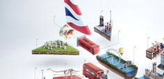BBH Singapore challenged Ars Thanea for a creation of an airplane cross section where by each part of the plane is really something iconic of London. Everything that to illustrate the new ad for British Airways.