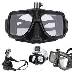 ダイビング機器カメラマウントシリコーンダイビングマスクスキューバダイビングシュノーケル水泳ゴーグルのためのgopro hero 2 3 3 + 4用スポーツカメラ