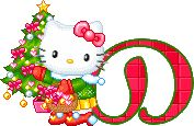 Hello kitty christmas alphabets