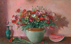 Margaret Olley  Ranunculus and Watermelon 1973