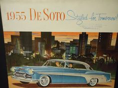 Vintage 1955 Dealership brochure DeSoto styled for tomorrow fireflite & firedome