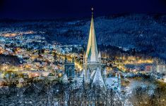 Aziz Nasuti Photography Trondheim, Winter Time, Norway, Paris Skyline, Skyscraper, Cathedral, Abstract, Architecture, World