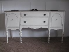 Painted Buffets And Sideboards | LuvLeeLilly: Creamy White Antique Buffet  Painted Sideboard, Painted Buffet