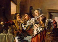Jan Miense Molenaer (1610 –1668) The Dentist [1629] North Carolina Museum of Art, Raleigh,  Oil on cradled panel, 58.7 x 80.2 cm