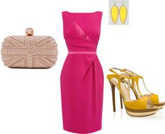fuschia, created by aidachick on Polyvore