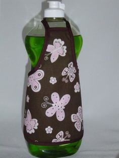 apron bottle covers | Butterfly Flower Dish Soap Bottle Apron Cover by beeluckylady