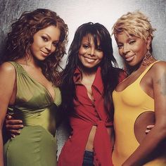 Beyonce, Janet Jackson and Mary J Blige. Three of them! Giving new meaning to Black Beauties! Janet Jackson, The Jackson Five, Girl Bands, Boy Band, Hip Hop, Black Girls Rock, Black Girl Magic, My Black Is Beautiful, Beautiful People