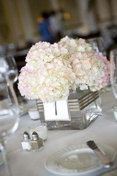 Simple hydrangea centerpiece - Simple hydrangea centerpiece Repinly Weddings Popular Pins