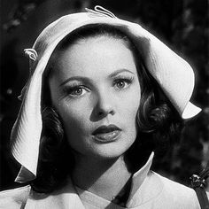 """Gene Tierney """"""""""""If you don't get out at once, I'm going to call the police"""" Gene Tierney in Laura [1944] """" """""""