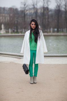 Paris Street Style Fall 2013 - Paris Fashion Week Style Fall 2013 - Harper's BAZAAR...fresh colours