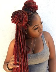 red+and+brown+long+box+braids                                                                                                                                                                                 More