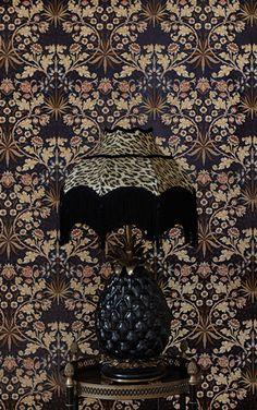 House of Hackney x William Morris / Hyacinth Black 【3パネル1セット】