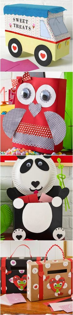 A collection of 8 creative and fun ideas for valentine boxes for kids! Perfect DIY Valentine's Day projects for boys, for girls, for school . . . even preschool age can help make these. So easy and creative!
