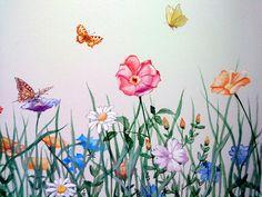 blumenwiese gemalt von oben - Google-Suche