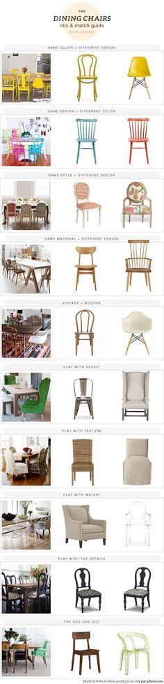 Juego de sillas y mesa del comedor