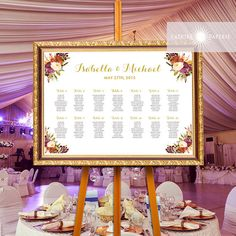 Printable Wedding Seating Chart Table Chart Guest by JadorePaperie
