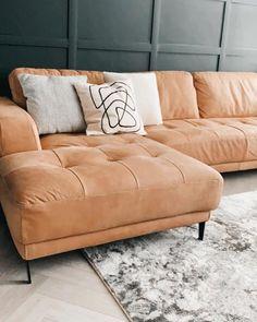 Ikea Leather Sofa, Tan Leather Sofas, Leather Corner Sofa, Best Leather Sofa, Modern Leather Sofa, Corner Sofa Living Room, Living Room Grey, Tan Sofa Living Room Ideas, Tan Couches