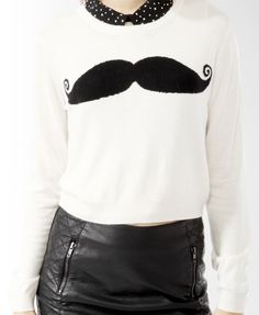 Mustache Graphic Sweater | FOREVER21 - 2019571590