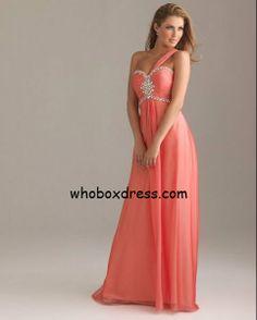 Cute coral prom dress