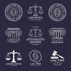 Theres no law that says law firm logos must include the iconic scales of justice As an attorney you must object to overused legal logo designs Lawyer Logo, Lawyer Business Card, Business Slogans, Logo Design, Letterhead Design, Web Design, Logo Google, Emblem Logo, Law Icon