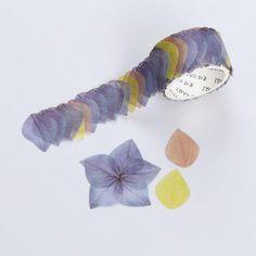 Flower Petal Masking Roll Sticker for Bullet Journaling Washi Tape Planner, Washi Tape Diy, Masking Tape, Washi Tapes, Duct Tape, Sticker Paper, Stickers, Cinta Washi, Kawaii Pens