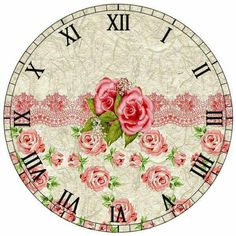 Roses and lace on clock face ♥