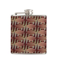 Modern Native American 21 Wrapped Flask