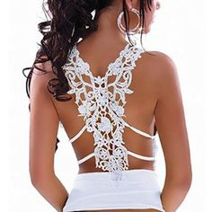 Meily(TM) Womens Sexy Lace Backless Spaghetti Strap Vest