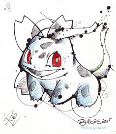 Bulbasaur - Fst Gen Pokemon by eREIina.deviantart.com on @DeviantArt