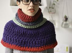 BLACKoveja label. Crochet Cowl/capelet.