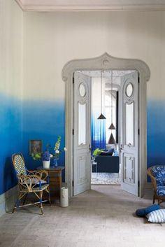 Saraille Wallpaper - Cobalt Blue
