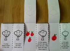 Apple Count-down poem flip book: Free!
