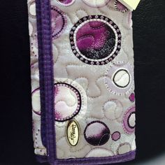 Wallet Donna Sharp wallet, purple cloth, many pockets on the inside. Donna Sharp Bags Wallets