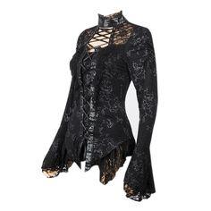 Black Criss Cross Ribbon Blouse | SALE
