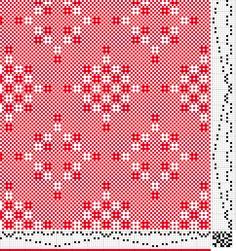 8-shaft Huck lace draft