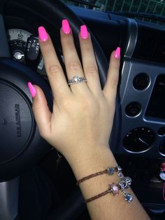 Pink coffin shaped nails – My CMS Coffin Nails Glitter, Pink Coffin, Acrylic Nails Coffin Short, Pink Acrylic Nails, Aycrlic Nails, Coffin Shape Nails, Nails 2018, Nail Nail, Coffin Nails Designs Kylie Jenner